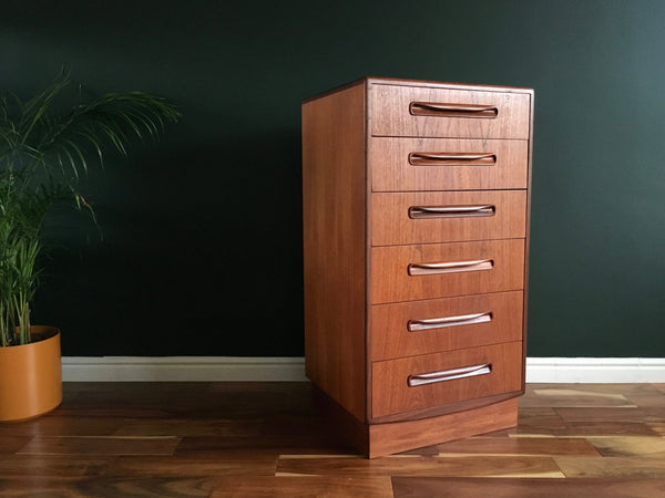 Mid Century G Plan Fresco Tallboy Drawers