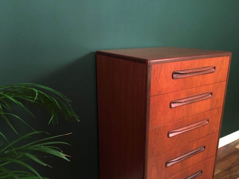Mid Century G Plan Fresco Tallboy Chest of Drawers