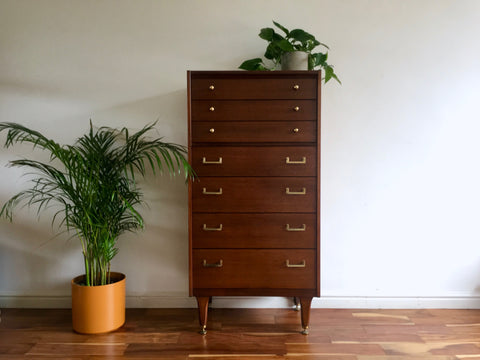 G Plan Tall Boy Drawers by E Gomme
