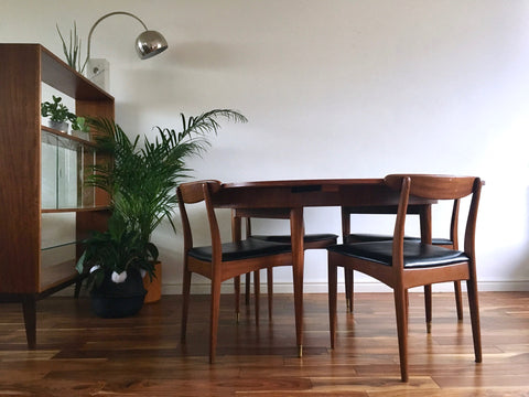 Mid Century Greaves and Thomas Dining Table and Chairs