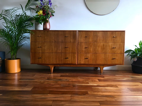 Rare Mid Century McIntosh Double Drawer Sideboard