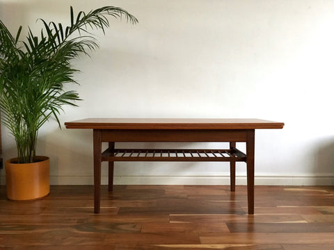 Mid Century Danish Metamorphic Coffee Table Dining Table Teak