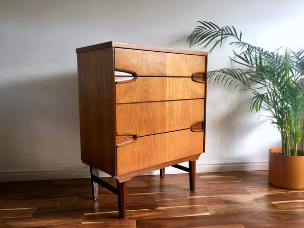 Mid Century Remploy Tallboy Chest of Drawers Vintage Retro Storage 1960s