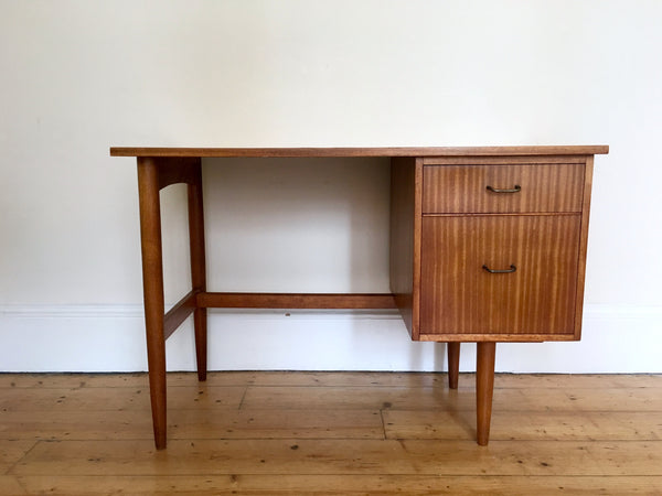 Mid Century Danish Teak Desk with Drawers
