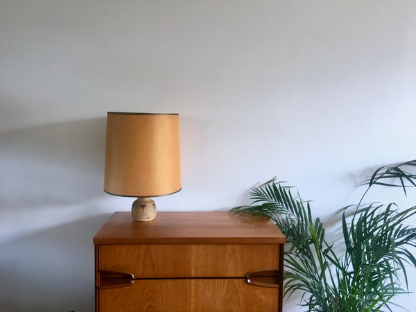 Mid Century 1970s Shelf Pottery SP Lamp Gold
