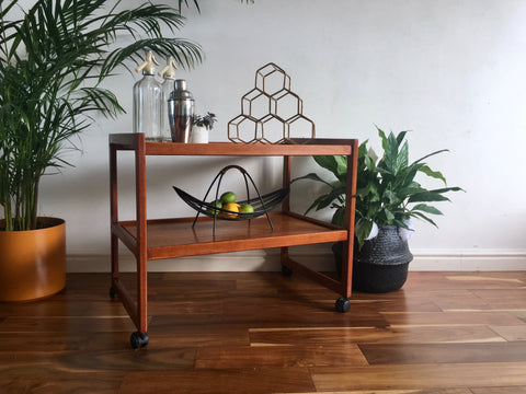 Mid Century Teak Drinks Trolley