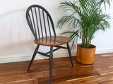Mid Century Ercol Windsor Painted Chair Minimalist Seating Charcoal