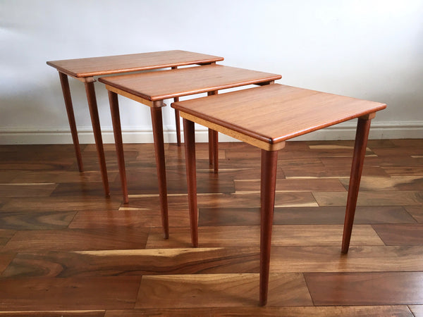 Mid Century Teak Westnofa Table Nest Made in Norway 1960's