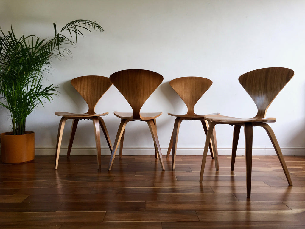 Mid Century Modern Norman Cherner Side Chairs Walnut The Cherner Chair  Company ...