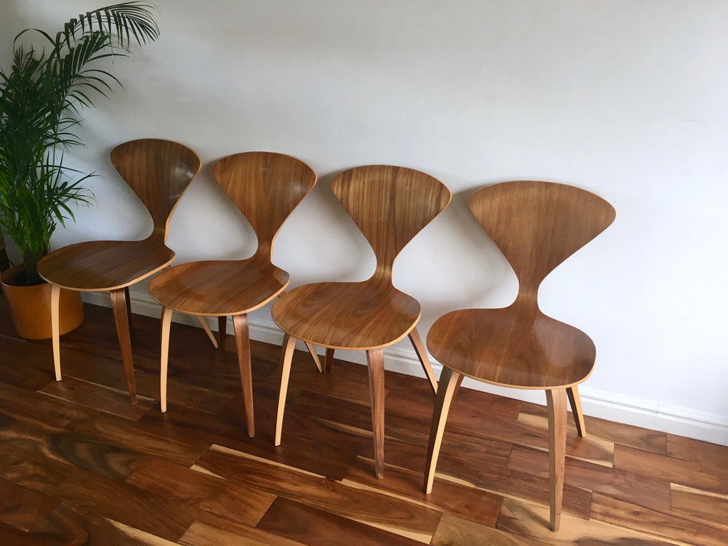 Mid Century Modern Walnut Side Chairs by Norman Cherner The ...
