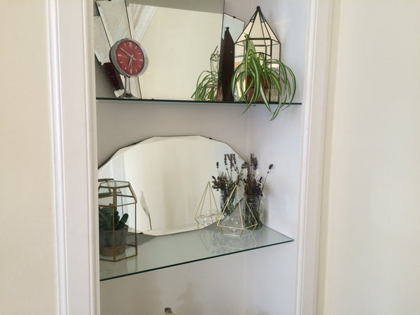 1940's Bevelled Edge Wall Mirror