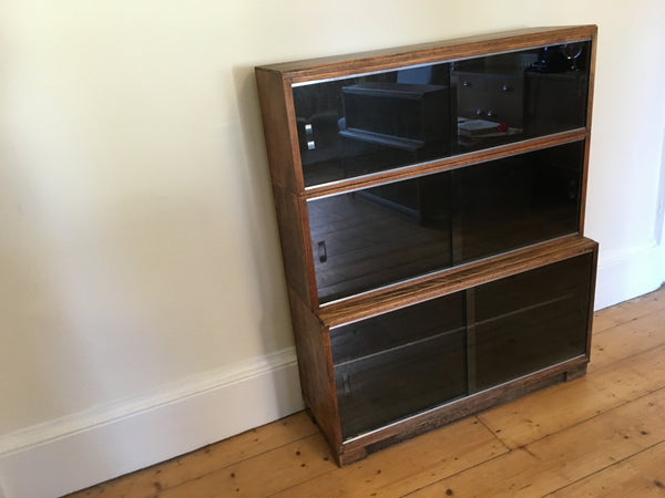 Pair of Minty Oxford Stacking Library Bookcases