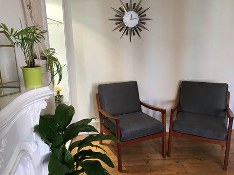 Pair of Danish France and Son Lounge Chairs by Ole Wanscher