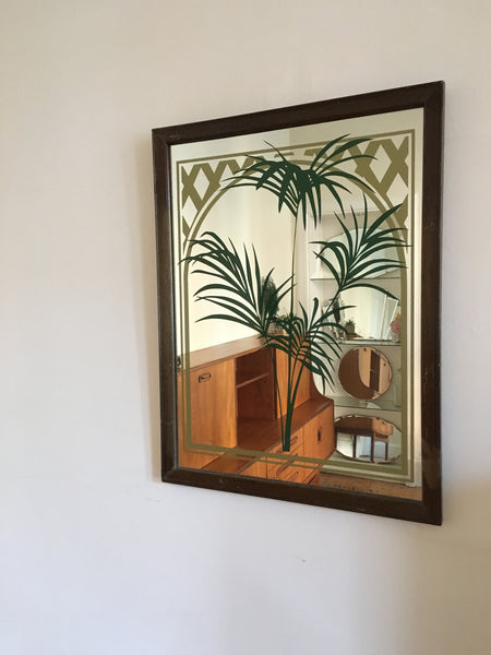 Vintage Palm Framed Mirror