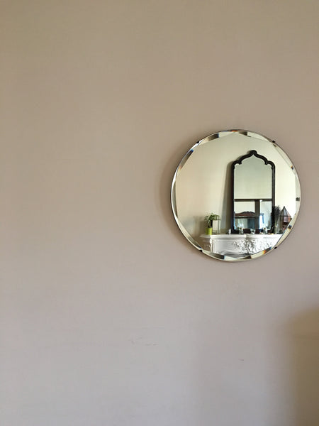 Bevelled Edge Circle Mirror
