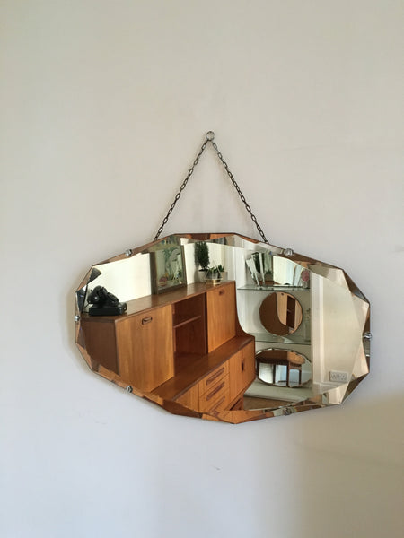 Bevelled Edge Gem Cut Mirror
