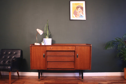Small Mid Century Sideboard By Beautility Atomic Legs Vintage Retro 1950s