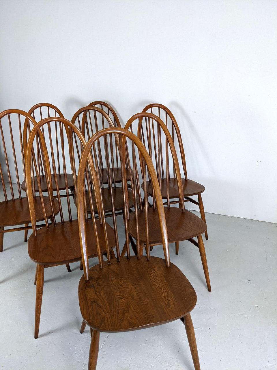 Vintage Ercol Windsor Quaker Chairs Gold Label