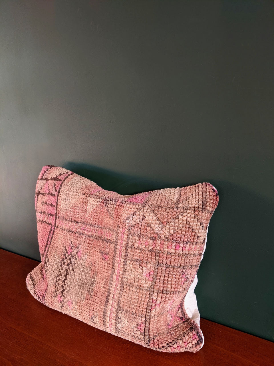 Vintage Moroccan Rug Pink Cushion