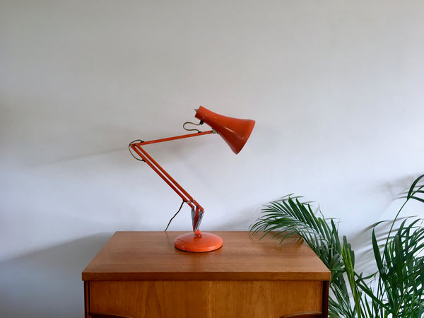 Mid Century 1970s Orange Anglepoise Desk Lamp