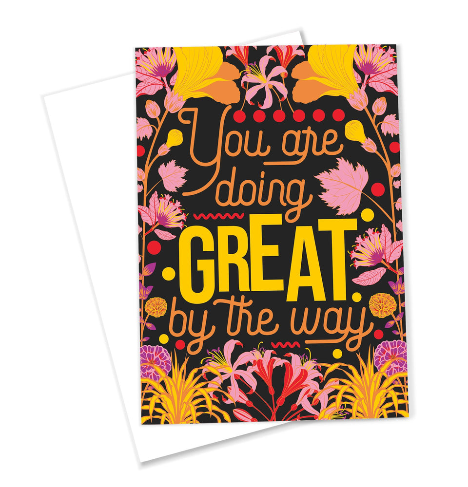 OMG Kitty 'You Are Doing Great' Greeting Card Positive Message Friendship