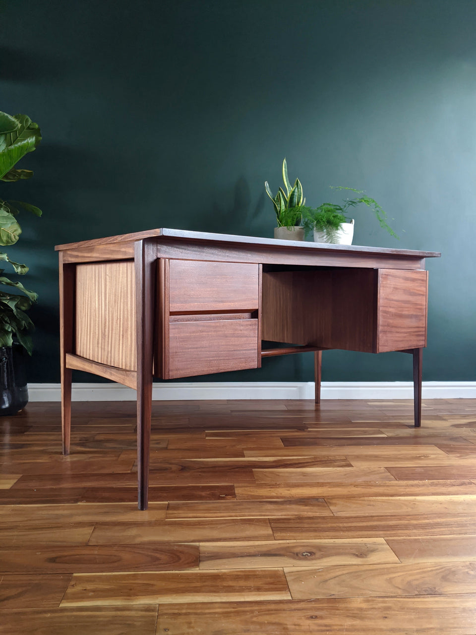 Mid Century Afromosia Desk Younger Style