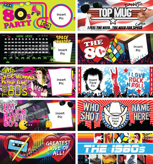 10 Back to the 80's Mug Templates - Mug Squad Templates - 2