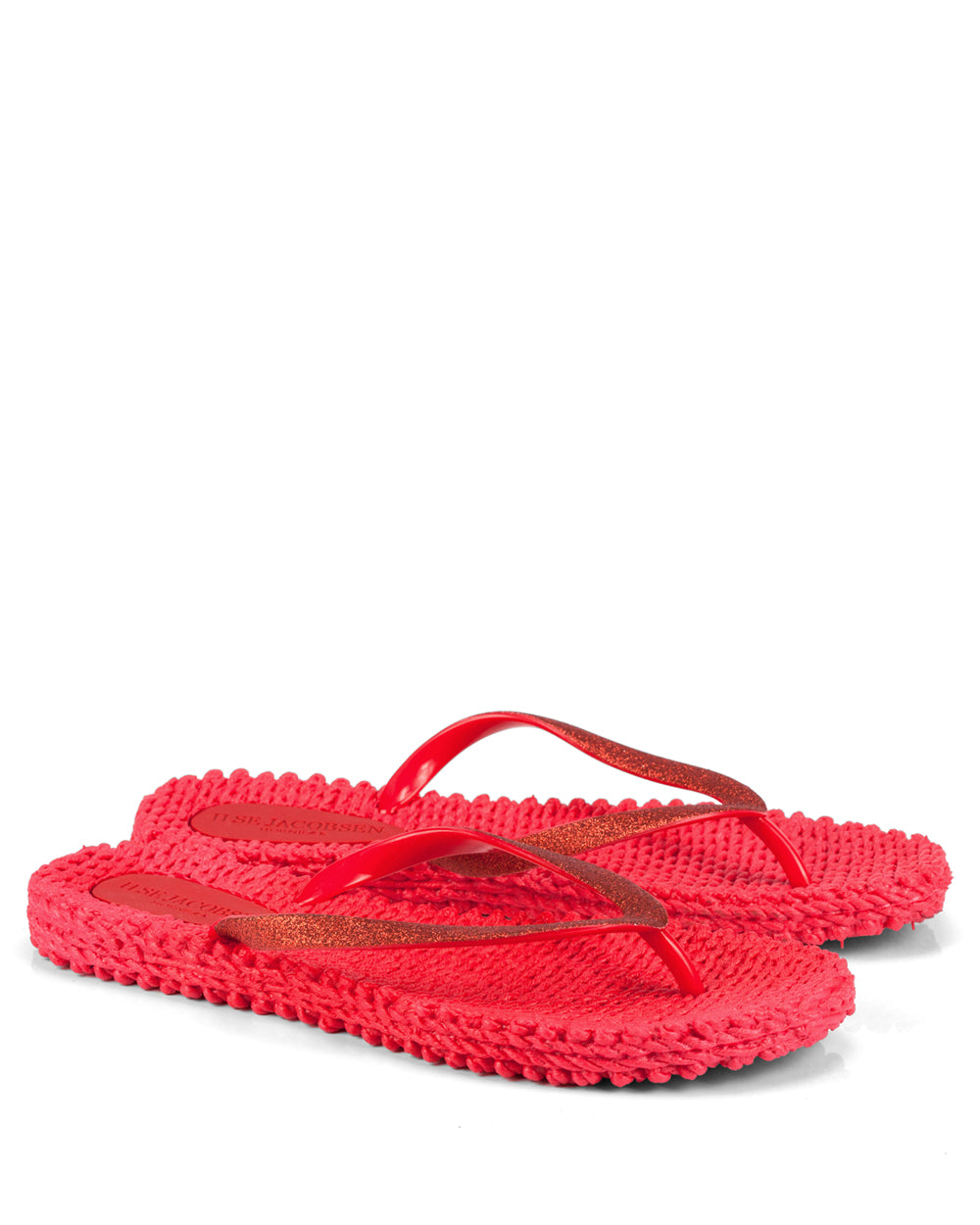 Cheerful Deep Red Flipflops - The Espadrille Hut
