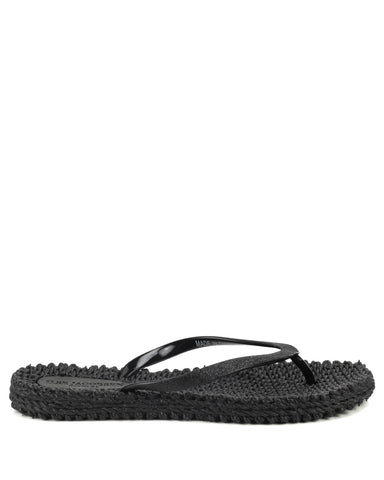 Cheerful Flipflops Black - The Espadrille Hut