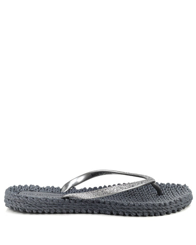 Cheerful Flipflops Grey - The Espadrille Hut