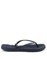 Cheerful Flipflops Navy - The Espadrille Hut