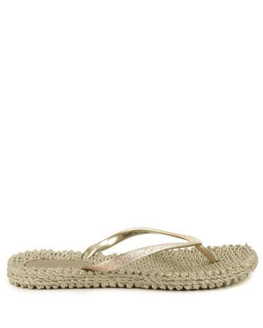 Cheerful Flipflops Platinum - The Espadrille Hut