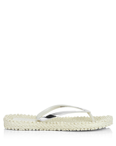 Cheerful 04 Cream Flipflops - The Espadrille Hut