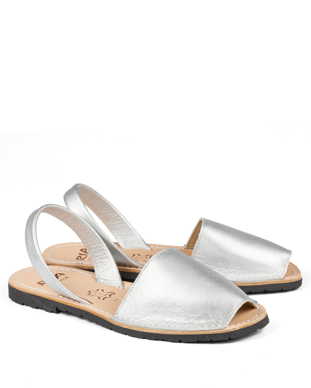Menorcan Sandals Silver Leather - The Espadrille Hut
