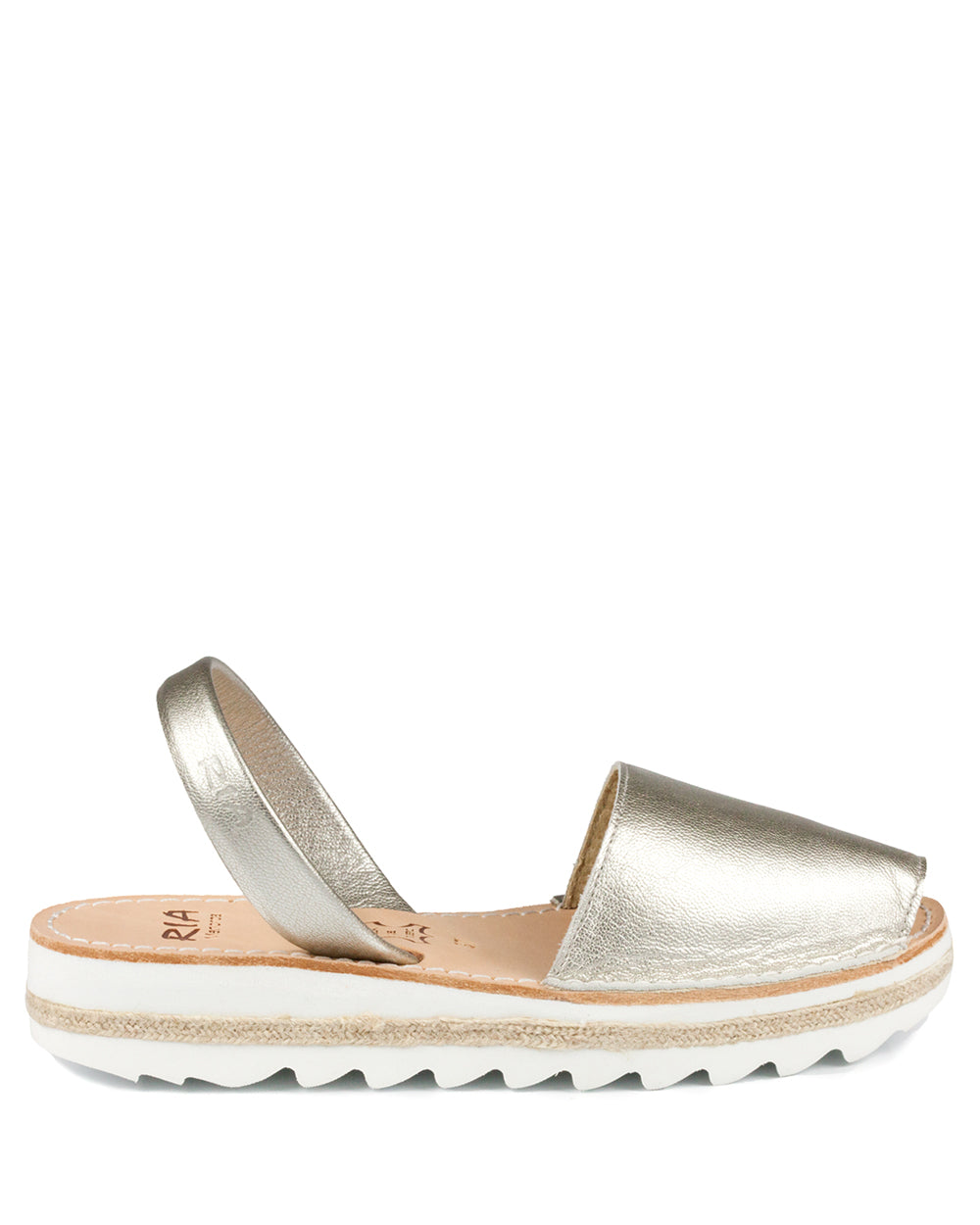 Menorcan Sandals Platinum Leather - The Espadrille Hut