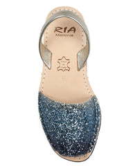 Menorcan Sandals Blue Glitter - The Espadrille Hut