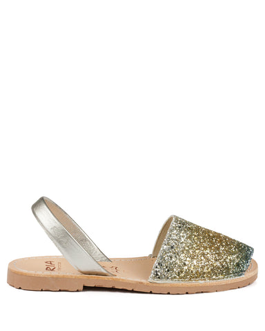 Menorcan Sandals Gold Glitter - The Espadrille Hut