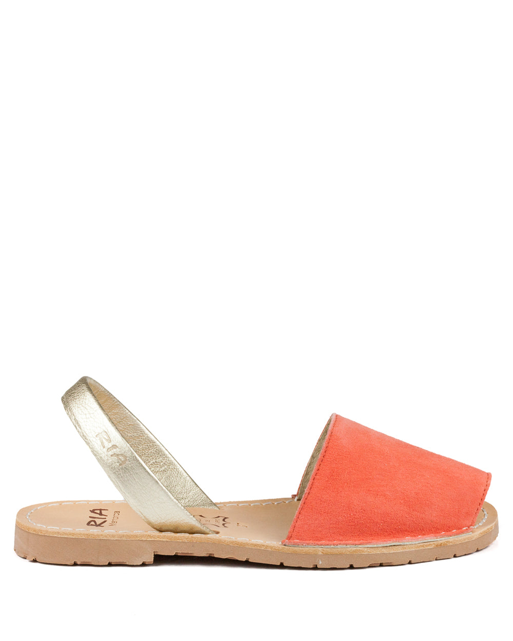 Menorcan Sandals Mango Suede & Gold - The Espadrille Hut