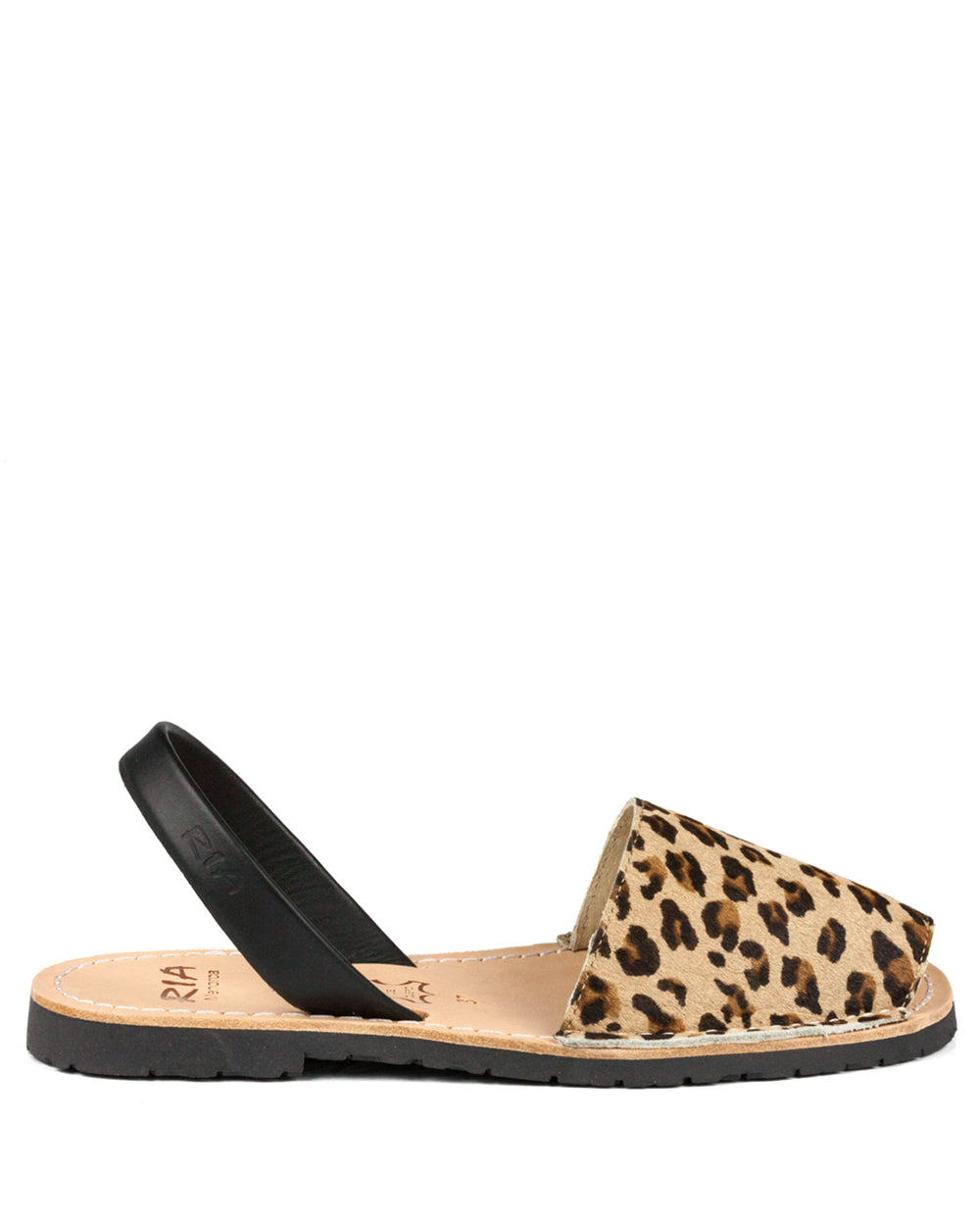 Menorcan Sandals Leopard Leather - The Espadrille Hut