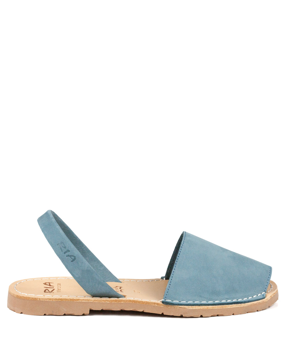 Menorcan Sandals Denim Nubuck - The Espadrille Hut