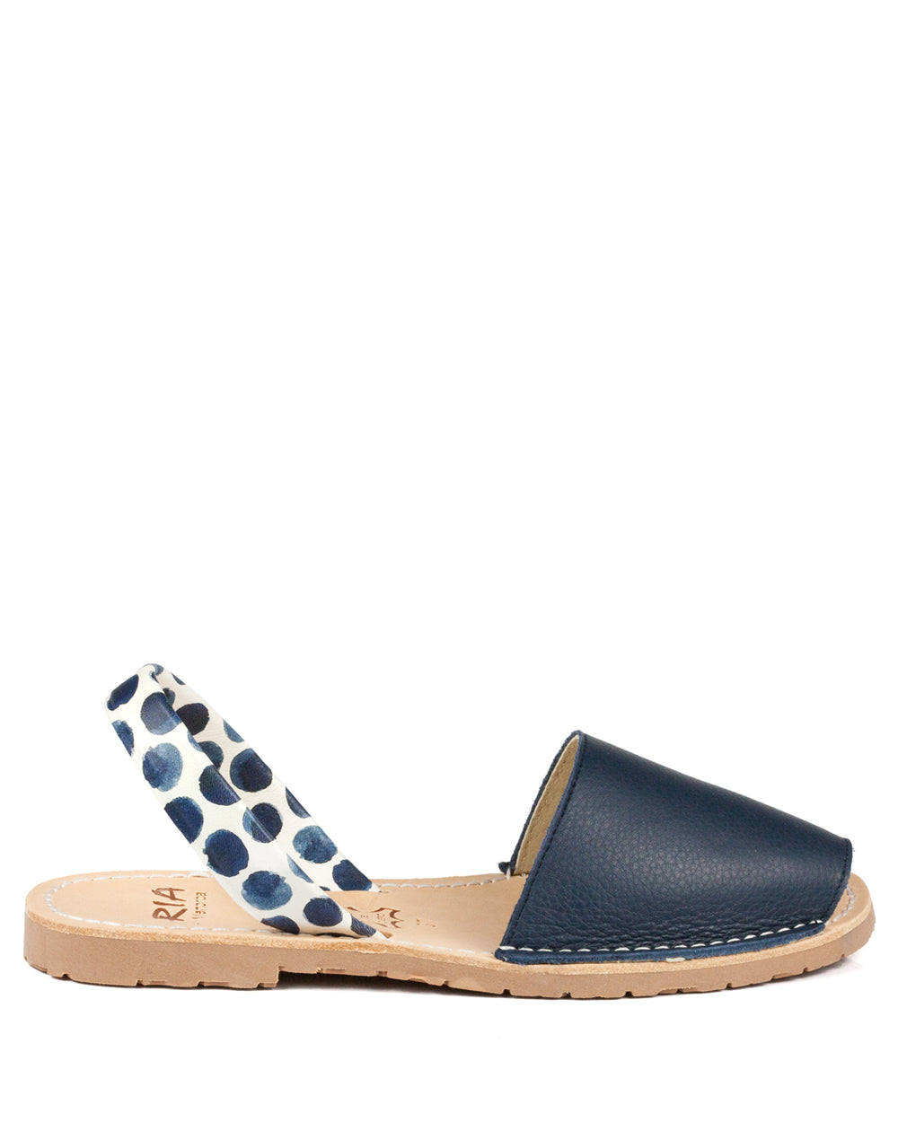 Menorcan Sandals Mediteranean Swirl Leather - The Espadrille Hut