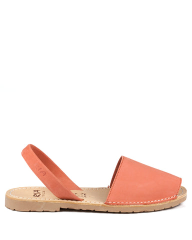 Menorcan Sandals Coral Nubuck - The Espadrille Hut