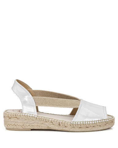 Evon XA Patent White Leather Espadrilles - The Espadrille Hut
