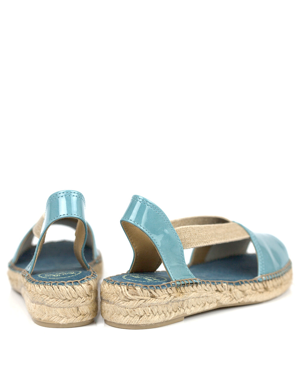 Evon XA Sky Blue Patent Leather Espadrilles - The Espadrille Hut