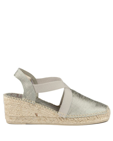 Tabarca Silver Espadrilles - The Espadrille Hut