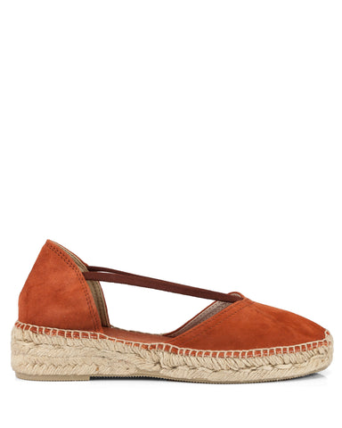 Erla Burnt Orange Suede Espadrilles - The Espadrille Hut