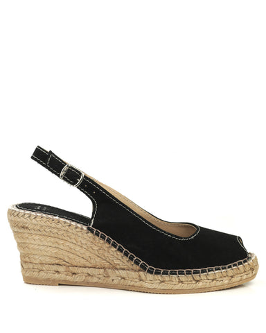 Calpe Black Suede Espadrille - The Espadrille Hut