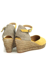Lloret 5 Yellow Suede Wedge Espadrille - The Espadrille Hut