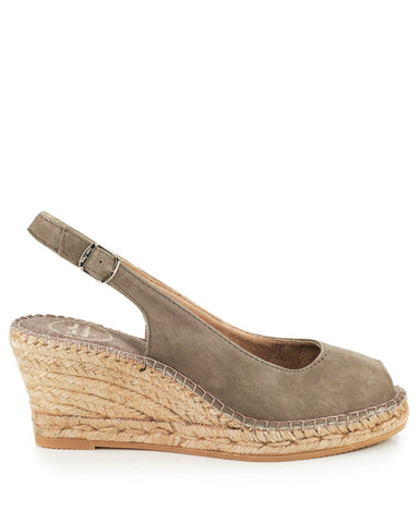 Calpe Taupe Suede Espadrille - The Espadrille Hut