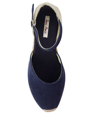 Lloret 5 Navy Suede Wedge Espadrille - The Espadrille Hut